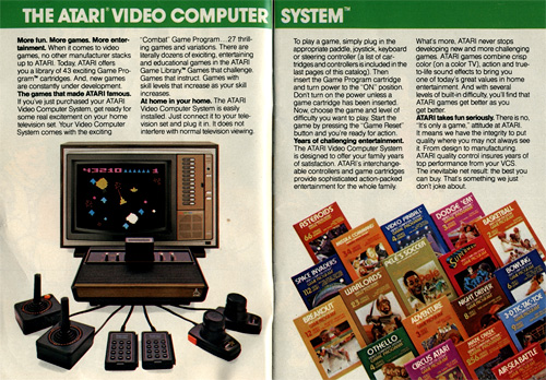 1981 Atari Catalog (Image courtesy Hugues Johnson)
