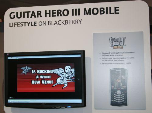 Guitar Hero Mobile on Blackberry