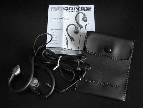 AirDrives Interactive Earphones For iPhone (Image property of OhGizmo!)