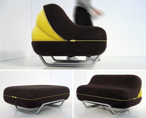 Eclosion Pump Up Sofa (Images courtesy Olivier Gregoire)