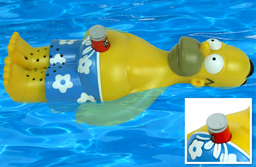Homer Simpson Floating Radio (Images courtesy Drinkstuff.com)
