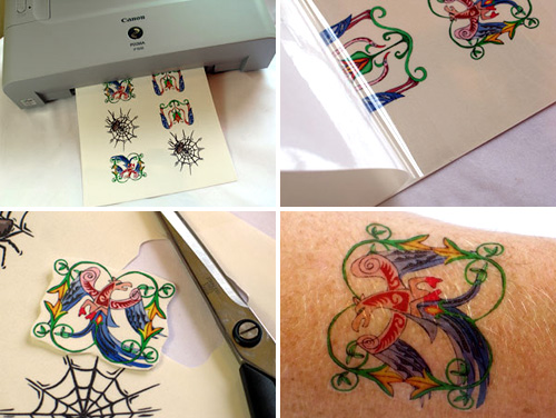 Inkjet Tattoo Paper (Images courtesy Crafty Computer Paper)