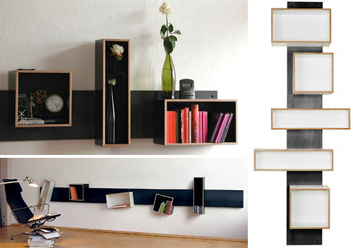 Magnetique Shelves (Images courtesy Nils Holger Moormann)