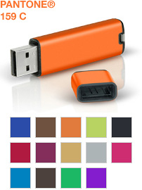 PANTONE Flash Drives (Images courtesy PANTONE)
