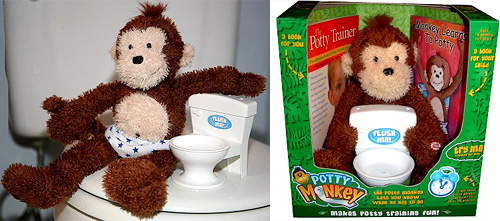 Potty Monkey (Images courtesy Stupid.com)