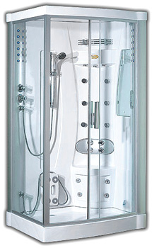 Pure Satin Steam Shower (Image courtesy The Shower Company.com)