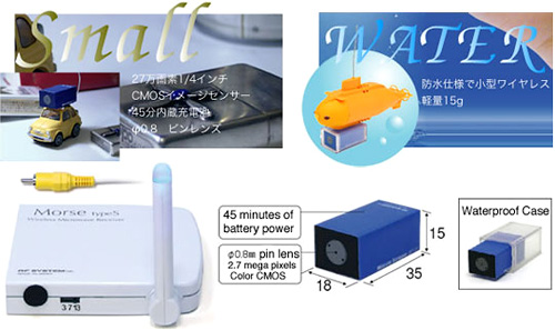 RC-12 Wireless Mini Video Camera (Image courtesy Japan Trend Shop)