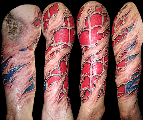 Spiderman Tattoo (Image courtesy Emptees)