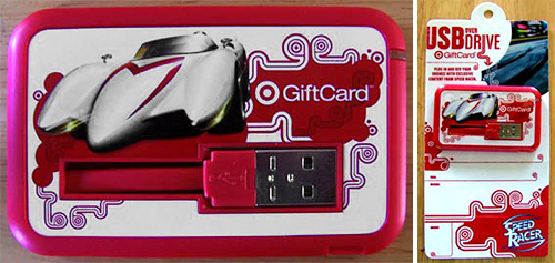 Target Speed Racer Gift Card (Images courtesy Gamertell)