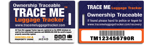 Trace Me Luggage Tracker (Images courtesy Immobilise)