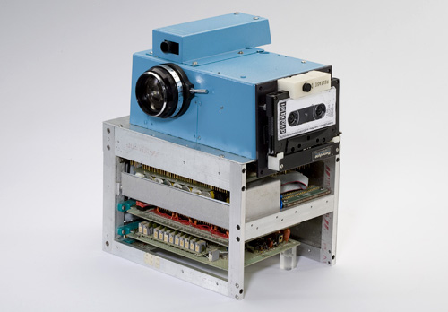 Vintage 1975 portable all electronic still camera (Image courtesy PluggedIn)