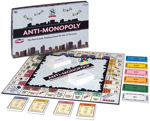 Anti-Monopoly Board Game (Image courtesy Antimonopoly.com)
