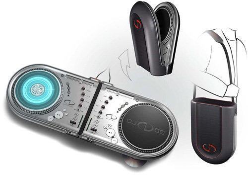 DJ GO Portable Turntables (Image courtesy Design Continuum, Inc.)