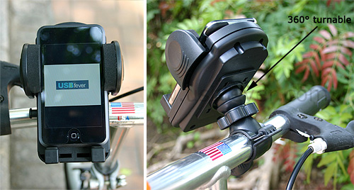 Bike Mount Holder for iPhone / iPod / PDA / GPS (Images courtesy USBfever)