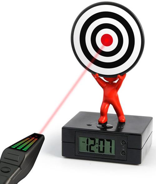 Laser Target Alarm Clock (Image courtesy UrbanTrend)