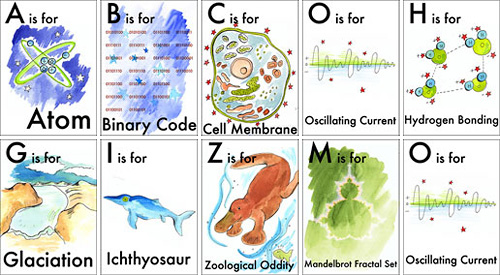 Nerdy Baby ABC Flash Cards (Images courtesy Tiffany Ard)