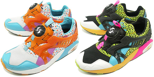 Puma Disc Blaze With Tetris Prints (Images courtesy KicksOnFire)