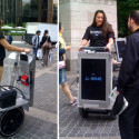 Segways With Plasma Displays Allow TV Commercials To Follow You Around The City