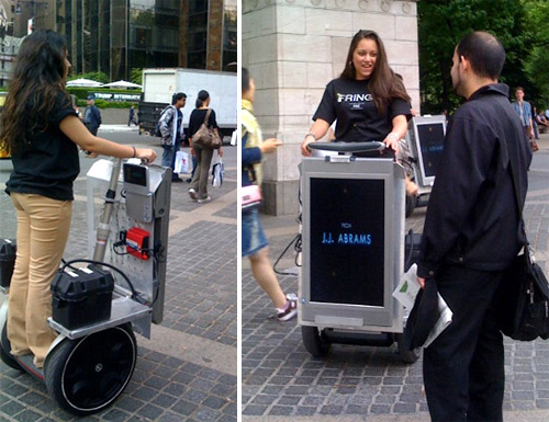 Segways With Plasma Displays (Images courtesy Chip Chick)
