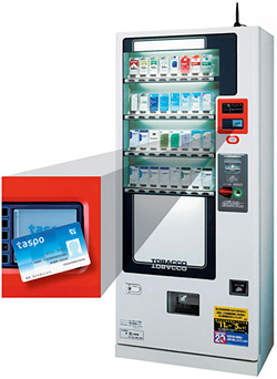 Japanese Tobacco Vending Machine (Image courtesy Wired)