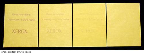 Self-Erasing Paper