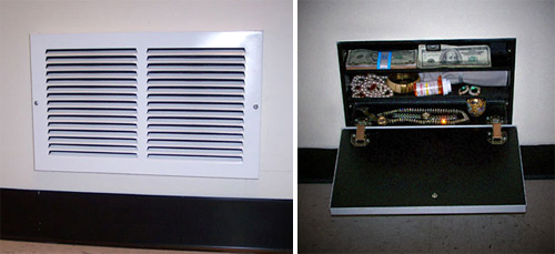 Air Vent Secret Compartment (Images courtesy Hidden Safes)