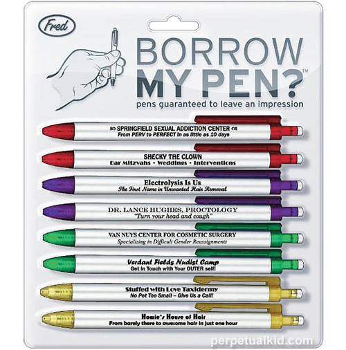 Borrow My Pen (Image courtesy Perpetual Kid)