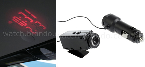Car Projector Clock (Images courtesy Watch.Brando.com.hk)