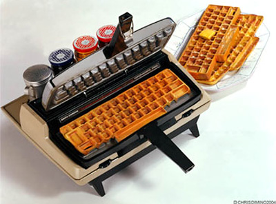 Corona-Matic Waffle Keyboard Maker (Image courtesy Chris Dimino)
