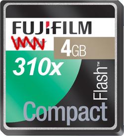 Fujifilm 310x CompactFlash Card (Image courtesy Fujifilm)