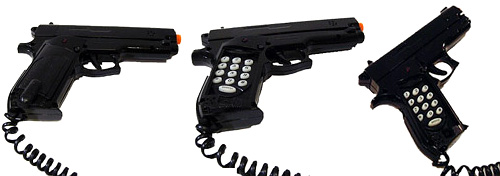 Custom Designed Toy Gun Phone (Images courtesy Fun Home Products Inc.)