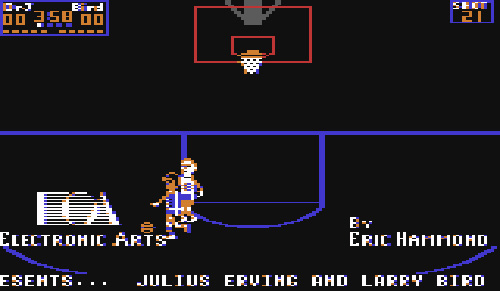 Julius Erving & Larry Bird: One-On-One (Image courtesy Lemon64.com)