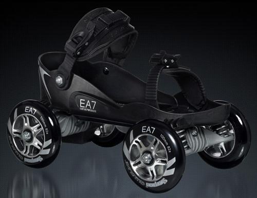 Emporio Armani EA-7 Skorpion Quadline Roller Skates (Image courtesy Emporio Armani)