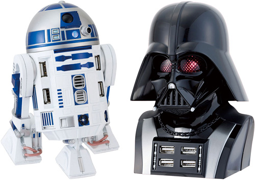 R2D2 & Darth Vader USB Hubs (Images courtesy Ascii.jp)