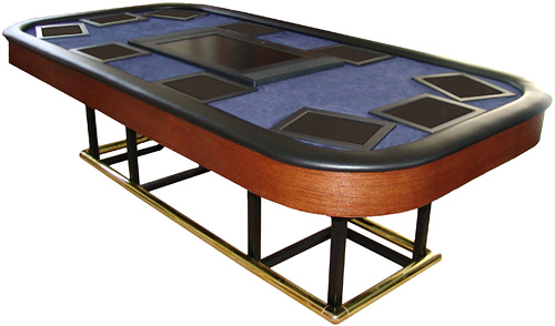 X10 Ten Player Automated Poker Table (Image courtesy Play Hard Gaming)