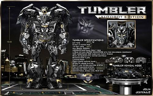 Batman Tumbler Robot Concept (Image courtesy Jester Pictures)