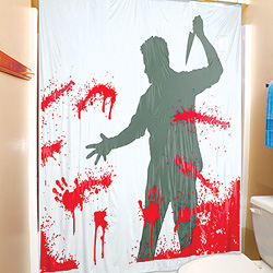 Bloody Serial Killer Shower Curtain | OhGizmo!