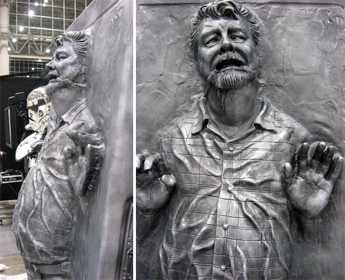 George Lucas Frozen In Carbonite (Images courtesy Bonnie Burton)