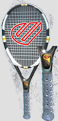 Control Freek Dominator Racquet (Image courtesy Inventor Spot)