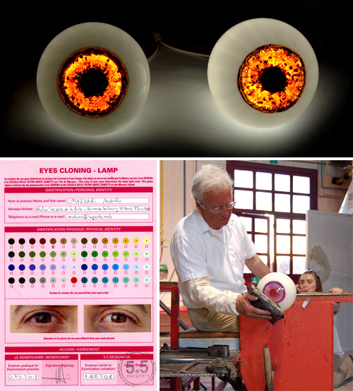 Cloned Eyeball Lamps (Images courtesy 5.5 Designers)