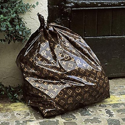 Louis Vuitton Trash Bag (Image courtesy kanYe West : Blog)