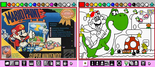 Mario Paint (SNES) (Images courtesy Wikipedia, Press The Buttons, The Mushroom Kingdom)