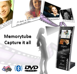 Memorytube Wedding Kiosk (Image courtesy Memorytube Kiosks Ltd.)