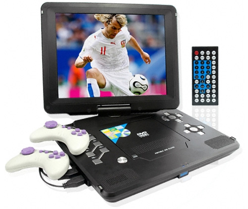 Monster Screen 12.5 Inch Portable DVD Player with Games (Image courtesy Chinavision)
