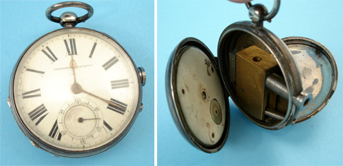 Rare English Patent Curiosa Railroad Pocket Watch Gun (Images courtesy LittleGun.be)