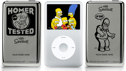 The Simpsons Limited Edition Engraved iPods (Images courtesy The Simpsons Shop)