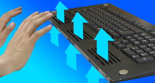 Thanko Cooler USB Keyboard (Image courtesy Fareastgizmos)