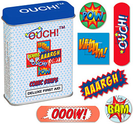 Ouch Comic Strip Bandages (Image courtesy Wishingfish.com)