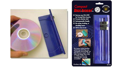 Compact Disc Eraser (Images courtesy SunZag LLC.)