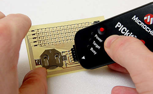 Dot Matrix Business Card (Image courtesy Instructables)